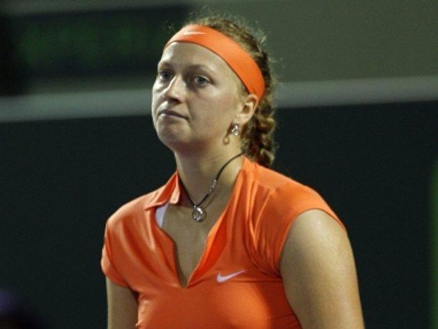 Zklamaná Petra Kvitová na turnaji v Miami.
