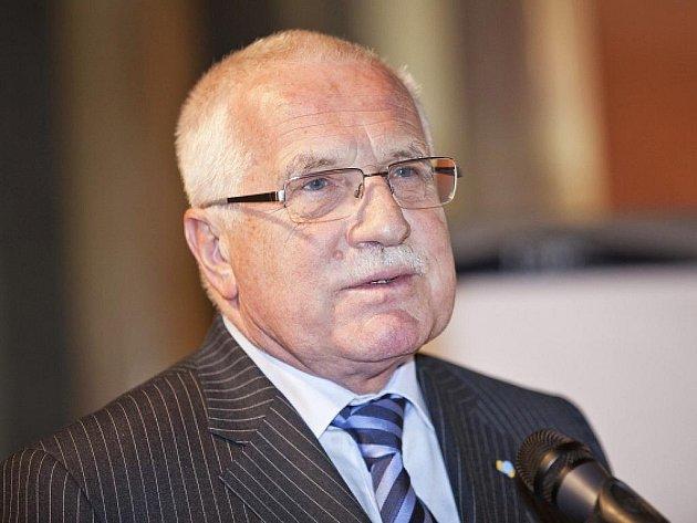 Prezident Václav Klaus.