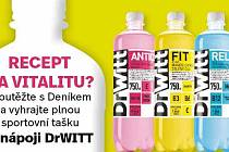 Soutěžte sDeníkem o minerální vody plné vitaminů DrWITT!
