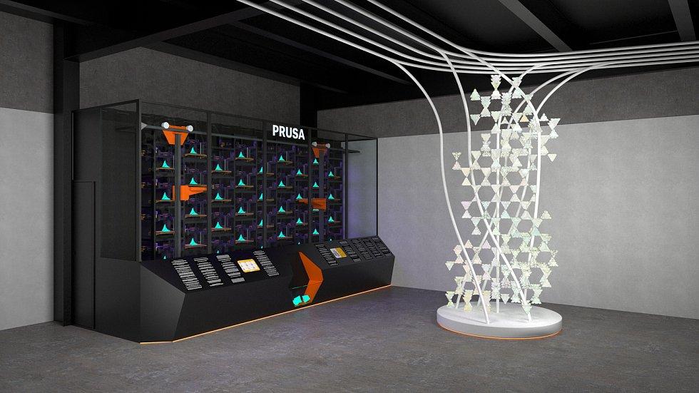 3D stěna Průša.