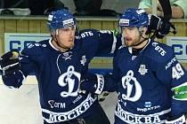 Marek Kvapil (vlevo) s Jakubem Petružálkem v dresu moskevského Dynama.