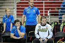 Tomáš Kafka (vpravo) na lavičce české reprezentace.