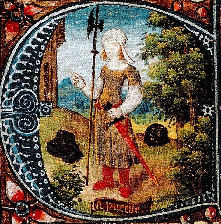 Panna z Arku na miniatuře z 15. století