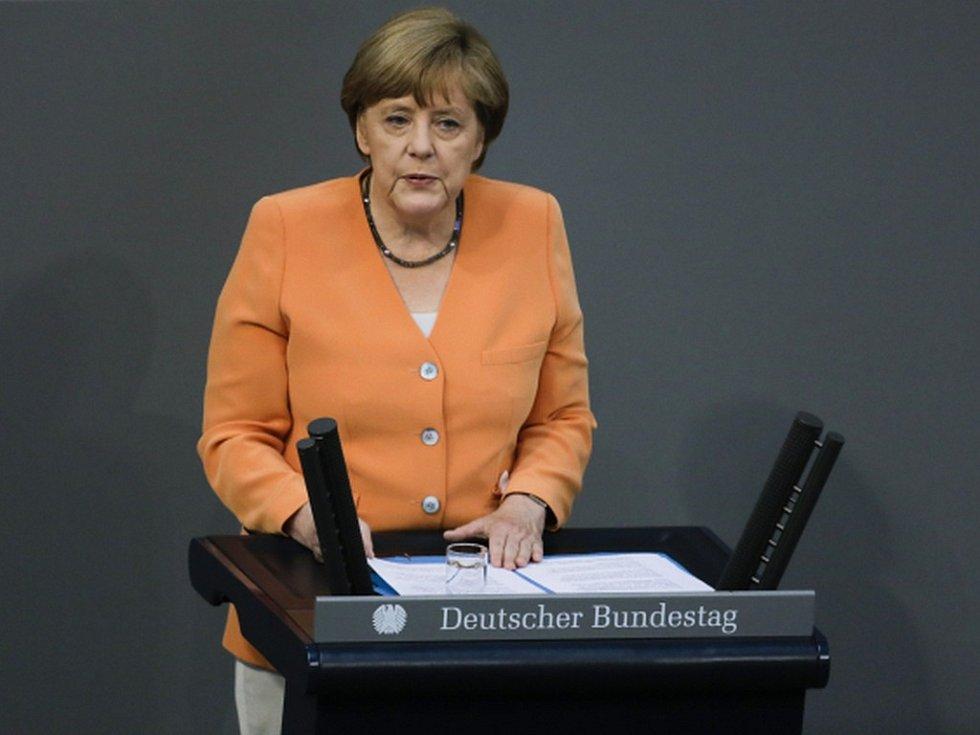 Německá kancléřka Angela Merkelová. Rok 2015
