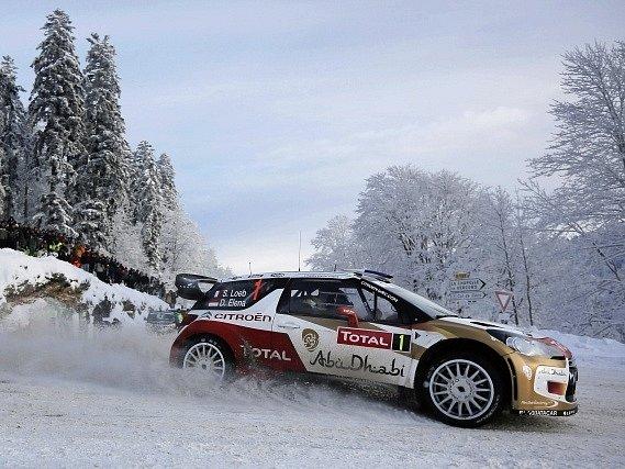Sebastien Loeb na Rallye Monte Carlo.
