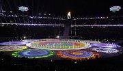 Slavnostní zakončení zimních olympijských her v Pchjongčchangu.