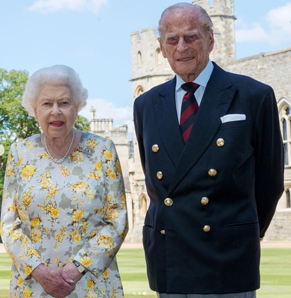 Fotka prince Philipa a královny Alžběty II.