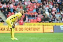 Sparťanský brankář David Bičík předvedl v derby několik dobrých zákroků, jediný gól zápasu ale padl po jeho chybě.