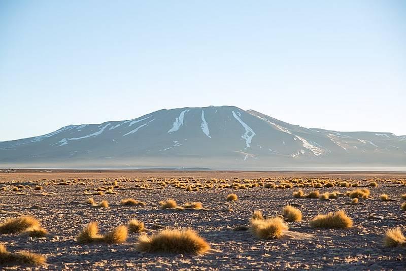 Východ slunce nad bolivijskými horami