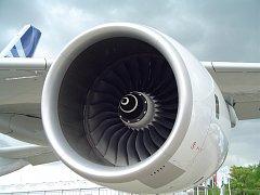 Motor Rolls-Royce na prototypu Airbusu A380.