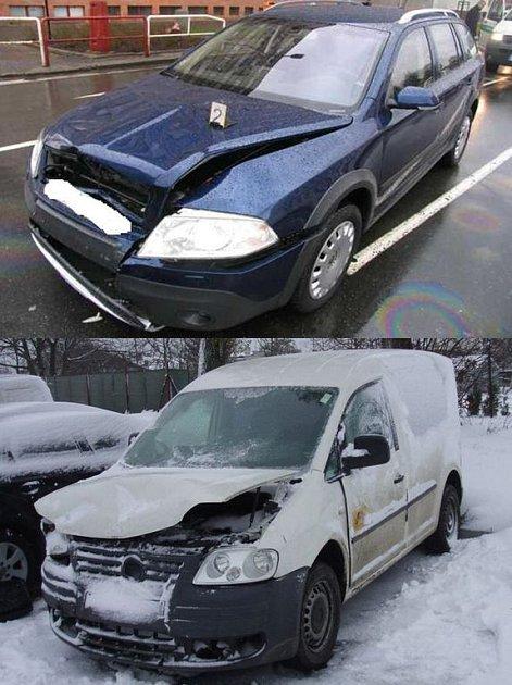 Čelně havarovaná vozidla