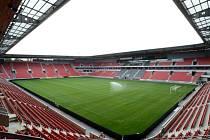 Fotbalový stadion Slavie v Edenu.