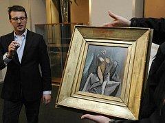 Picassův obraz Sedící žena