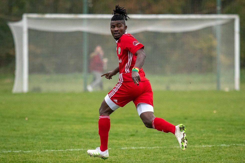 Erik Opata, Záložník FC Heřmanice Slezská. 2.listopadu 2019 v Ostravě.