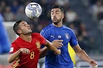 Graziano Pellé při utkání se Španělskem
