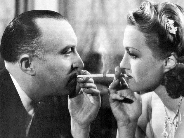"""Herci Adina Mandlová a Oldřich Nový ve filmu """"Kristián"""" z roku 1939."""