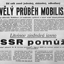 zařijová mobilizace československé armády, 1938