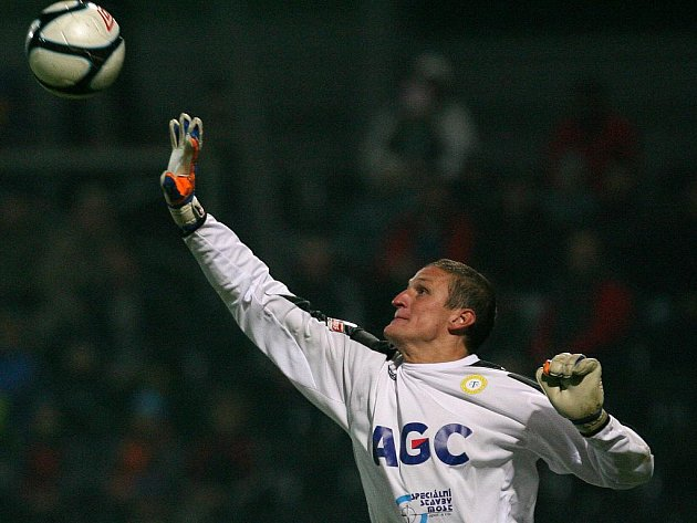 Brankář Teplic Tomáš Grigar.