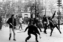 FRANCIE 1968. 6. května, bulvár Saint-Germain.