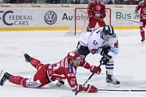 32. kolo hokejové extraligy: Liberec - Třinec 3:0.