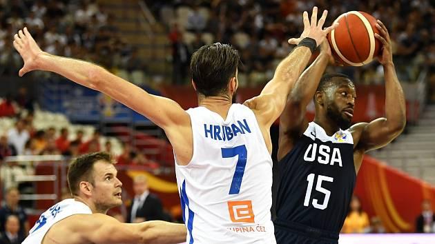 Vojtěch Hruban v zápase mistrovství světa proti USA