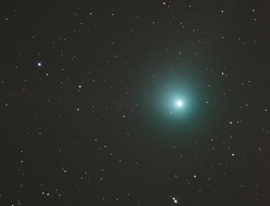 Machholzova kometa na snímku v roce 2004