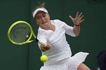 Barbora Krejčíková ve Wimbledonu.