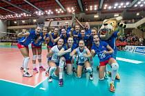 Takto se české volejbalistky radovaly v srpnu po utkání s Estonskem. Po hříchu bylo jablonecké vítězství 3:0 jejich jediným v dosavadní kvalifikaci o mistrovství Evropy.