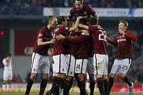 Fotbalisté Sparty vyhráli derby nad Slavií 3:1.