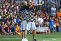 Sparta - CSKA Moskva: Domácí trenéři Zdeněk Ščasný a Zdeněk Svoboda