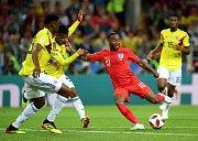 Anglie se v osmifinále MS utkala s Kolumbií.