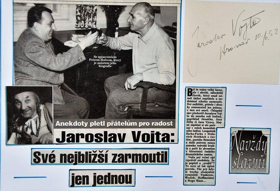 Autogram herce Jaroslava Vojty.