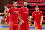 Trénink české reprezentace basketbalistů. Ilustrační snímek