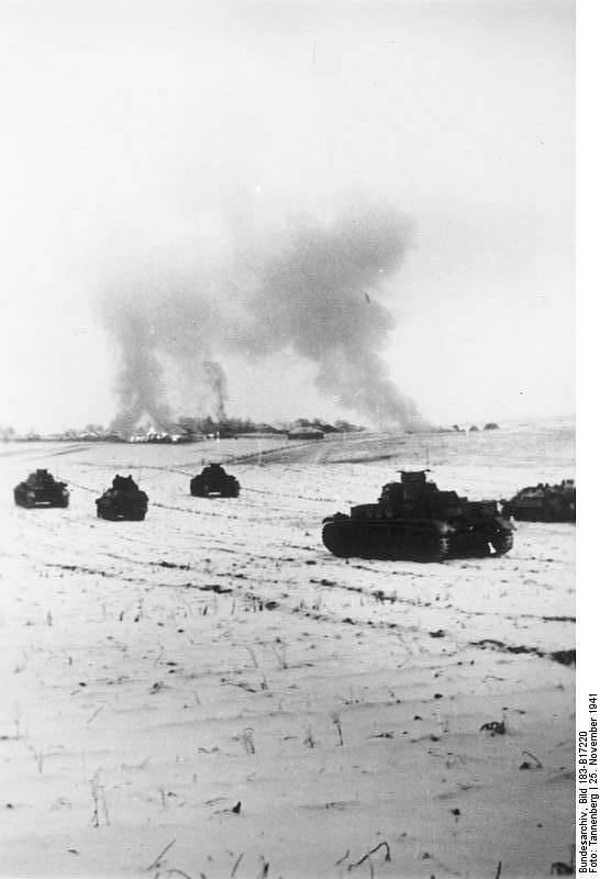Německá tanková vojska v bitvě před Moskvou, 25. listopadu 1941