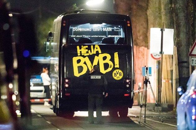 Napadený autobus Borussie Dortmund