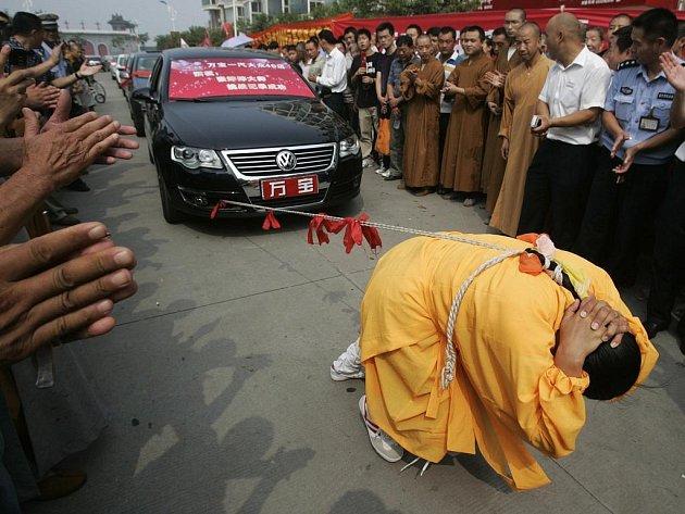 Číňanka Čang Tching-tching při vystoupení ve svém rodném Kchaj-fengu v provincii Che-nan letos 25. srpna.