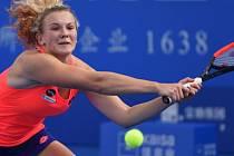 Kateřina Siniaková na turnaji v Šen-čenu.