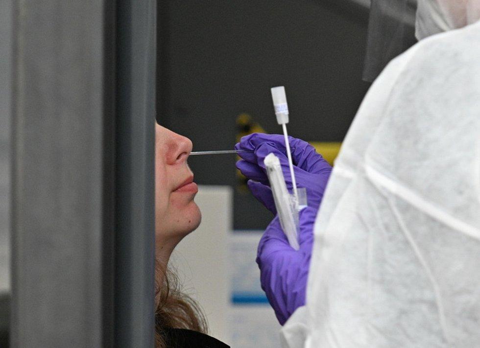 Odběr vzorků na koronavirus. Ilustrační snímek