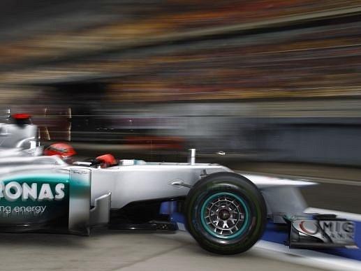 Michael Schumacher z týmu Mercedes AMG Petronas.