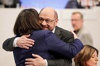 Andrea Nahles a Martin Schulz