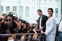 Sahra Wagenknechtová představuje nové levicové politické hnutí