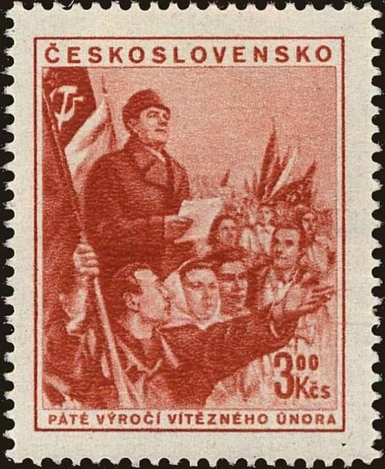 Klement Gottwald na poštovní známce
