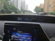 Futuristický přístrojový panel vodíkové Toyoty Mirai