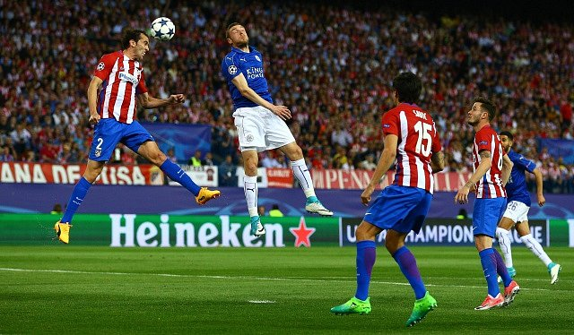 Zápas Leicester City s Atletico Madrid