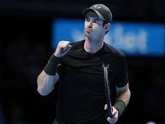 Andy Murray se raduje z vítězství nad Stanem Wawrinkou.