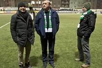 Noví členové Klubu ligových kanonýrů: zleva Ivan Hašek, Antonín Panenka a Tibor Mičinec.