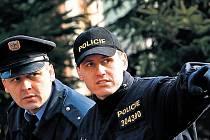 Pracovníci Inspekce ministra vnitra, kolínští i středočeští policisté ve středu v Cerhenicích zajišťovali stopy