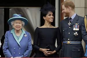 Alžběta II., Harry a Meghan