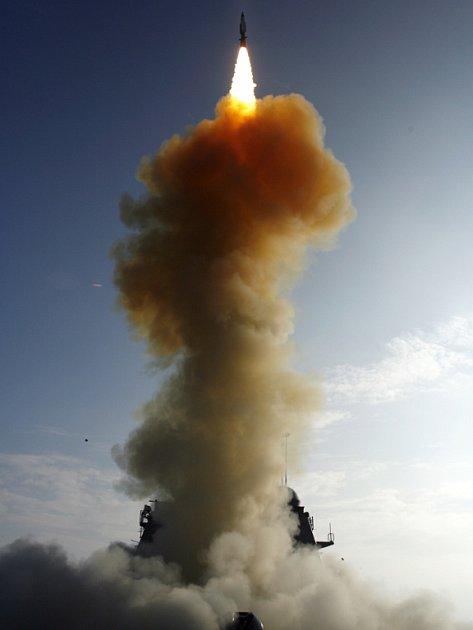 Americká raketa SM-3, která má být součástí protiraketové obrany.