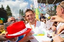 Hlavním motivem festivalů je návrat dětí ke sportu, proto se poprvé uskuteční i příměstské tábory. Na snímku Lukáš Krpálek.